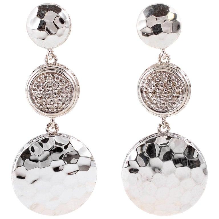 """""""John Hardy"""" Diamond Drop Earrings"""