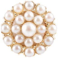 Cultured Pearl Circle Ring