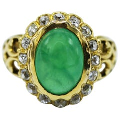 Victorian Jadeite and Diamond Ring