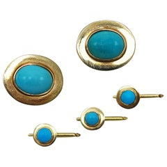 Natural Turquoise and Gold Dress Set