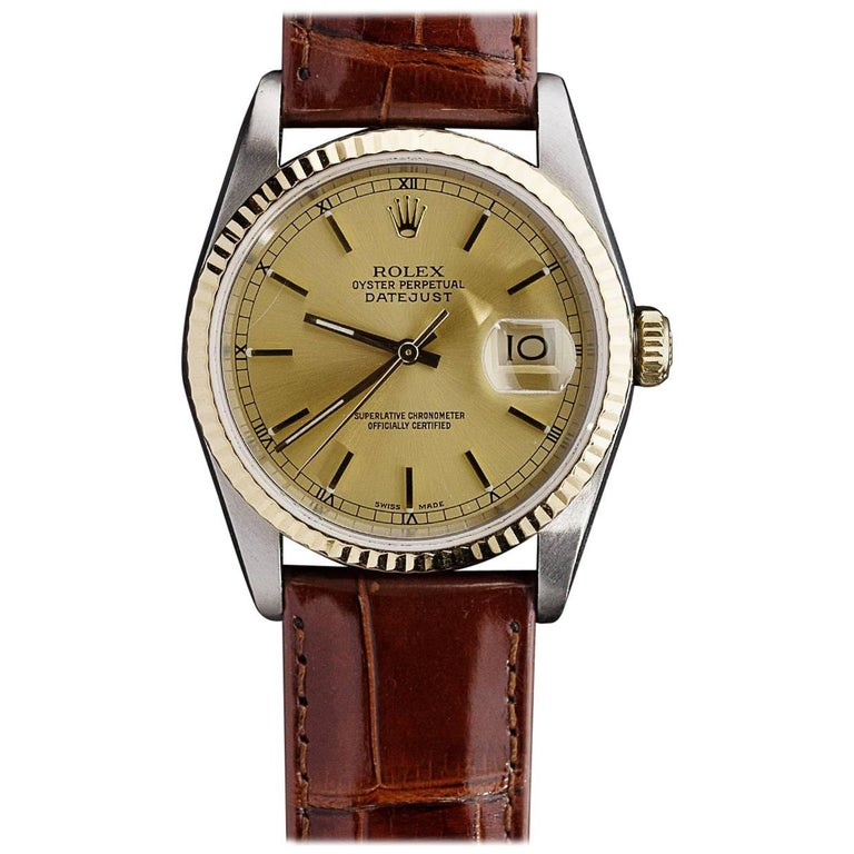 Rolex Yellow Gold Stainless Steel Datejust Perpetual wristwatch
