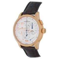 Jaeger-LeCoultre Rose Gold Duometre Chronograph Manual Wristwatch Ref Q6012420