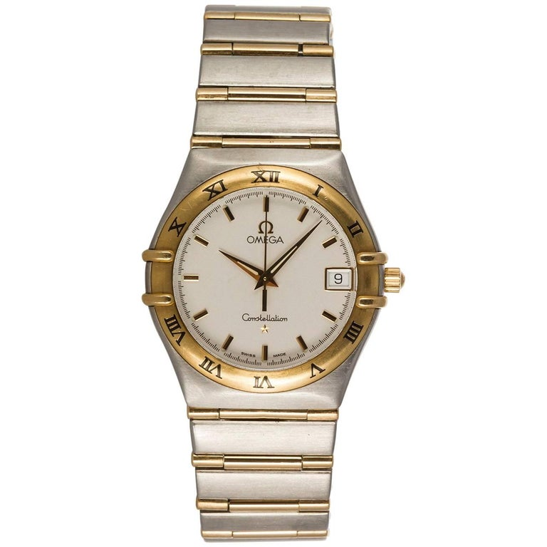 Omega Constellation Two-Tone 18 Karat Gold and Stainless Steel Men's Watch