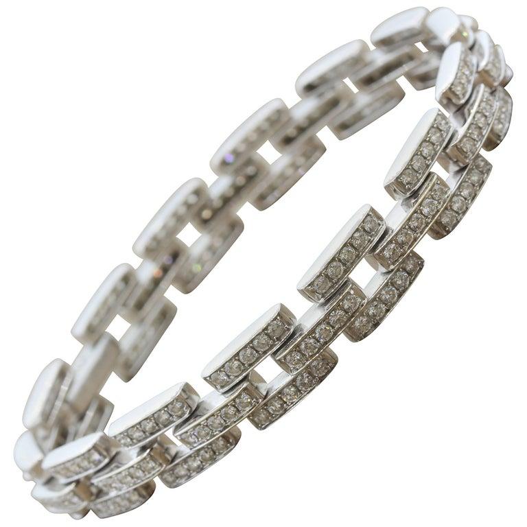 Diamond Gold Link Tennis Bracelet