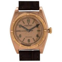 Rolex Pink gold Bubbleback self winding wristwatch ref 3372, circa 1947