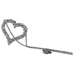 Tiffany & Co. Diamond Heart Pendant, 3.24 Carats Platinum Set
