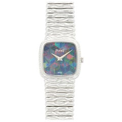 Piaget Ladies White Gold Opal Bracelet Manual Wristwatch