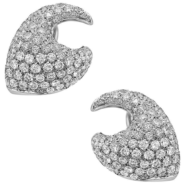 Emilio Jewelry Pave Diamond Earrings
