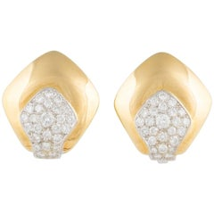 Ella Gafter Gold and Diamond Clip-On Earrings