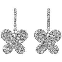 Emilio Jewelry 2.72 Carat Butterfly Earrings