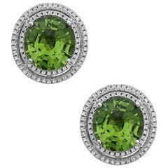Emilio Jewelry 6.81 Carat Peridot Earrings