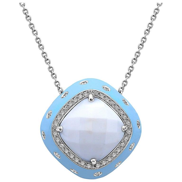 Emilio Jewelry 21 Carat Diamond Agate Necklace