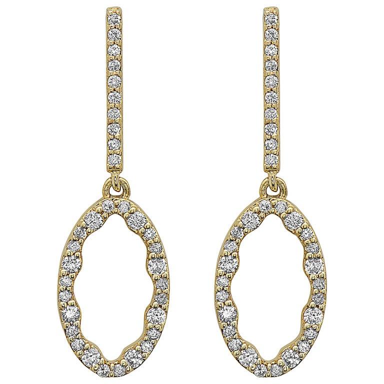 Emilio Jewelry Yellow Gold Everyday Diamond Earrings For
