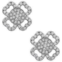 Emilio Jewelry Diamond Flower Earring Studs