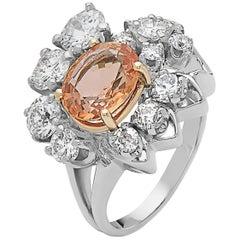 Emilio Jewelry 5.05 Carat Orange Sapphire Ring