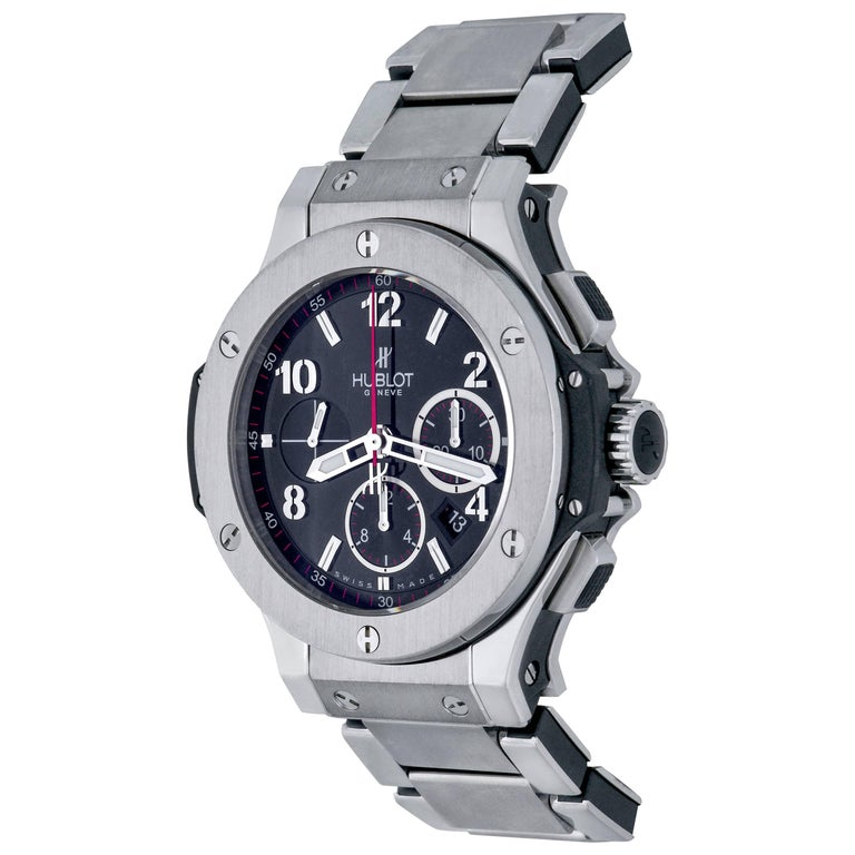 Hublot Stainless Steel Big Bang Chronograph Automatic Wristwatch For Sale