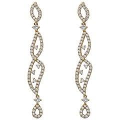 Emilio Jewelry Swirl Diamond Earring