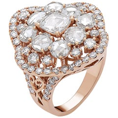 Emilio Jewelry 5.00 Carat Rose Cut Diamond Ring