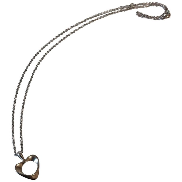 "Georg Jensen Necklace Sterling Silver ""Hearts of Georg Jensen"""