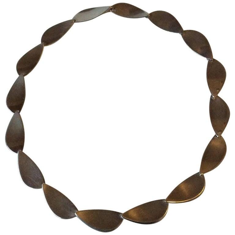 Hans Hansen Sterling Silver Necklace No 318
