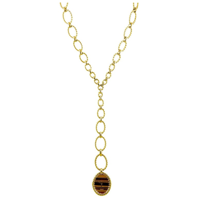 Piaget 18 Karat Gold Link Necklace Watch
