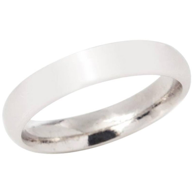 top band ring in wedding gold bands platinum white milgrain