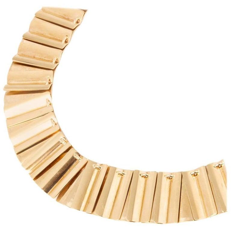 Georg Jensen Rare Vintage Gold Necklace