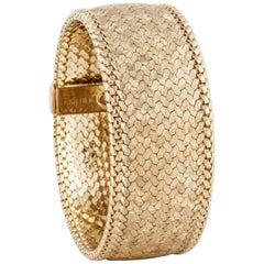 Cartier 18 Karat Florentine Bracelet