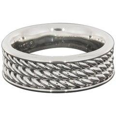David Yurman Men's Silver Maritime Rope Cable Band Ring