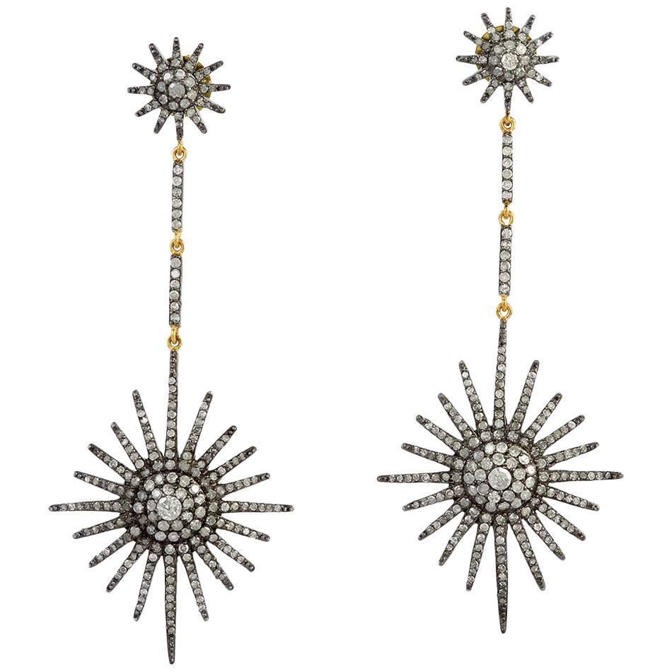 Star Sparkled Diamond Earring