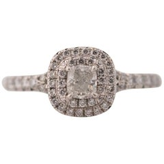 2015 Tiffany & Co. Soleste Diamond Platinum Engagement Ring