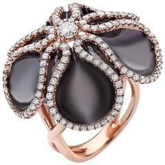 Emilio Jewelry Rose Gold Petals Diamond Ring
