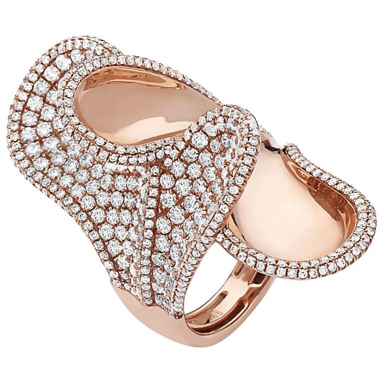 Emilio Jewelry Stunning Rose Gold Diamond Ring