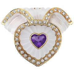 Emilio Jewelry Diamond Heart Brooch