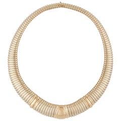 Cartier 18 Karat Steel Tubogas Necklace