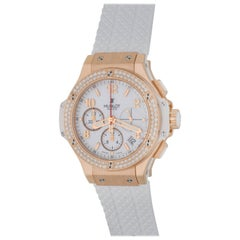 Hublot Rose Gold Big Bang Chronograph Automatic Wristwatch