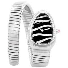 Bulgari Stainless Steel Serpenti Tubogas Quartz Wristwatch