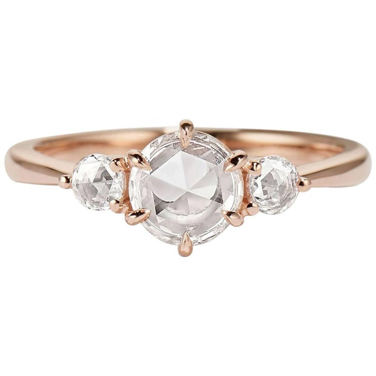 Cushla Whiting 'Chloe' Three Rose Cut Diamonds Engagement Ring