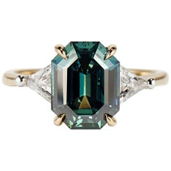 Cushla Whiting 4.27 Carat Blue Green Sapphire 'Marni' Engagement Ring