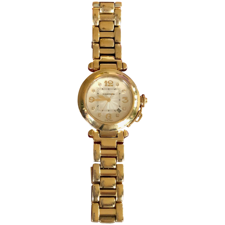 Cartier Yellow Gold Diamond Pasha Watch