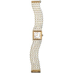 Chanel Akoya Pearl Yellow Gold Mademoiselle Watch