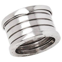 Bulgari 18 Karat White Gold B.Zero 1 Band Ring
