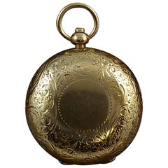 Antique Victorian Sovereign Case by Alfred Wigley,  9ct Gold, Birmgham 1896