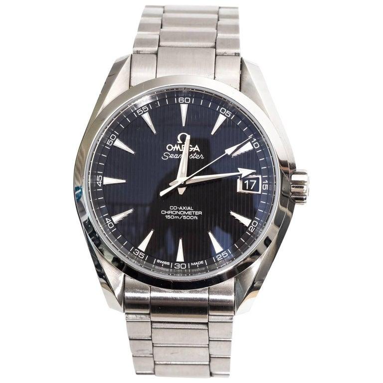 Omega Stainless Steel Seamaster Aqua Terra Chronograph Automatic Wrist Watch