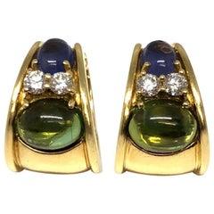 Tiffany & Co. Amethyst Diamond and Tourmaline Earrings