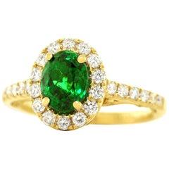 Tsavorite Diamond and Gold Ring