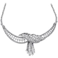 10 Carat Diamond Vintage Choker Necklace