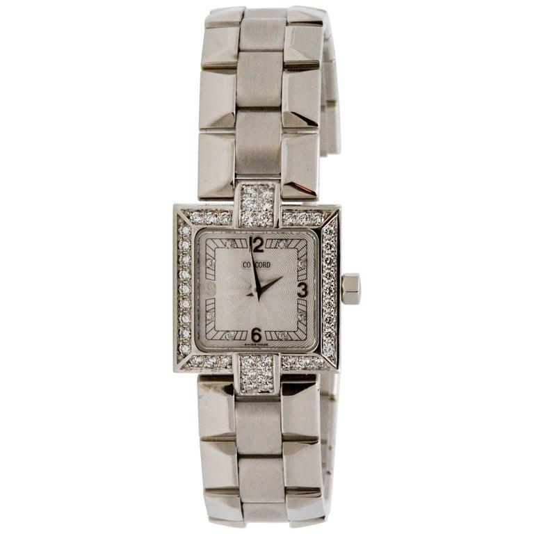 Concord Ladies La Scala White Gold Diamond Bezel Quartz Wristwatch