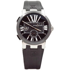 Ulysse Nardin Stainless steel Executive Dual Time self-winding Wristwatch