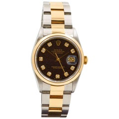 Rolex Yellow Gold Stainless steel Datejust Oyster Automatic Wristwatch